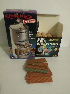 MONEY MISER Motorized Money Machine offered + 130 Coin Wrappers