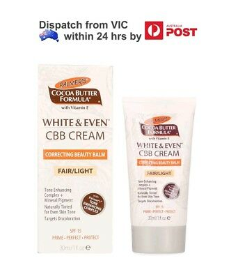 Palmers White & Even CBB Cream Correcting Beauty Balm Cream SPF15 - Fair/Light