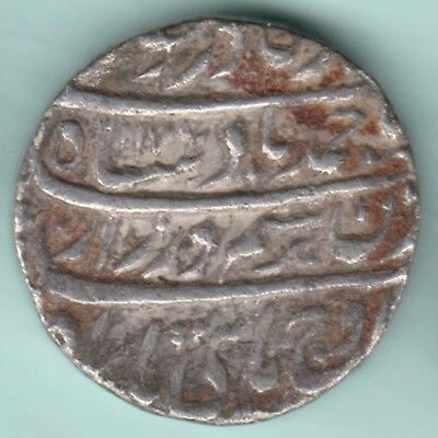 Mughal India  Amed Shah Durrani Lahore Mint One Rupee Full Mint Silver Coin