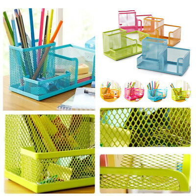 Metal desktop storage box organizer drawer pen card office stationary holder