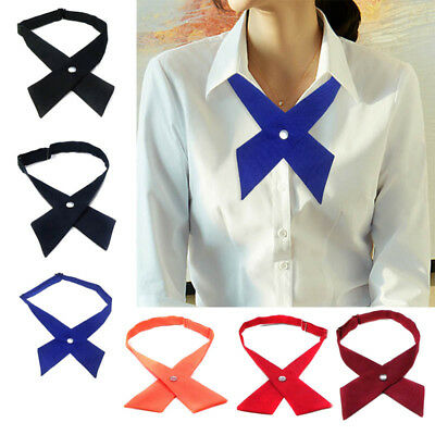 Adjustable School Girls Uniform Bow Tie Students Bowknot Necktie Neck tie