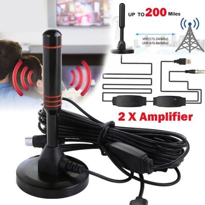 1080P TV Digital Antenna HD 200 Mile Range Skywire TV Indoor 4K 16ft Coax Cable