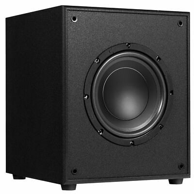 "10"" 300W Powered Active Subwoofer W/Front-Firing Woofer HD Home Theater Music"