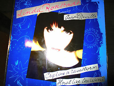 Linda Ronstadt Feat Aaron Neville–Cry Like A Rainstorm Howl Like The Wind EX/EX