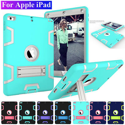 Shockproof Hybrid Rugged Bumper Armor Case Cover for Apple iPad 4/3/2 9.7'' 2018