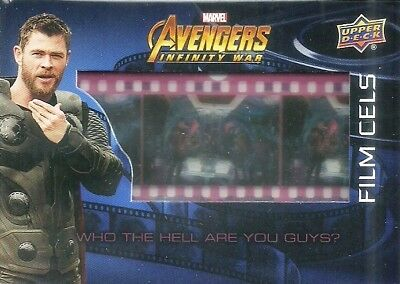 2018 Upper Deck Marvel Avengers Infinity War Film Cels F13 WHO THE HELL ARE YOU