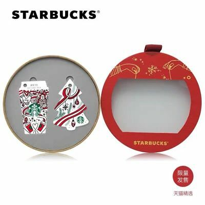 Starbucks 2018 China Christmas Holiday Mind Red Cup And Christmas Tree Card Set