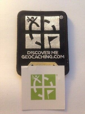 Geocaching Patch Trackable Schwarz