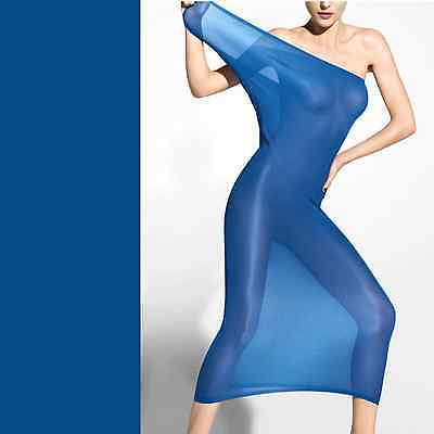 WOLFORD Fatal Sheer Dress • S • regatta  ... scheint sexy die Haut durch...