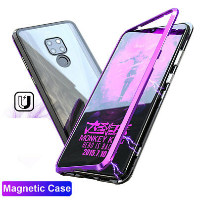 360° Magnetic Adsorption Case For Huawei Mate 20 Pro/Mate 20X Temper Glass Cover