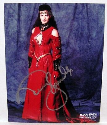 Terry Farrell STAR TREK DEEP SPACE NINE WEDDING DRESS AUTOGRAPH