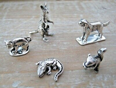 Wholesale Job Lot 5 x Sterling Silver Animals Dog Cat Squirrel Aligator Kangaroo
