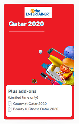 Entertainer Qatar 2020 7 day App Rental incl Cheers and Hotels