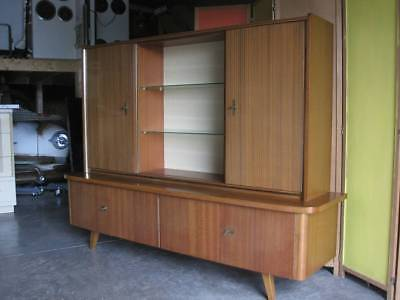 VTG MCM Danish modern style Teak German credenza cabinet and top china 60's 50's