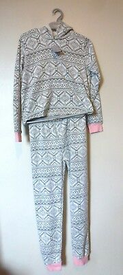 Matalan Long Sleeve Ultra Soft Hooded Pyjamas Age 11 Years BNWT Grey Uk Freepost