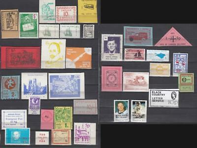 1971 Postal Strike Lot Of 36 stamps All Different All Unmounted Mint Full Gum Lo