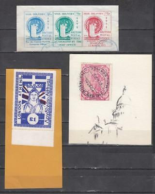 1971 Postal Strike One Large Min Sheet Mail Delivery + One Large £1 London To At