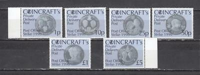 1996 Postal Strike Coincraft's Private Delivery Post  Full Set Perf All Unmounte