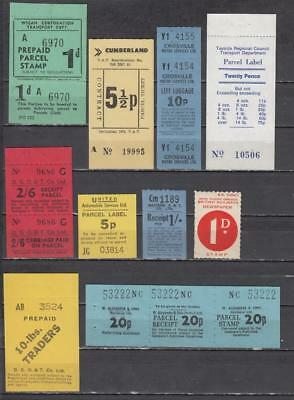 Newspaper Parcel Stamp 10 In Total All Unmounted Mint Full Gum