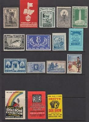 UK Cinderella-Poster Stamps 16 In Total All Unmounted Mint Full Gum ( For Condis
