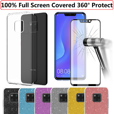 Huawei Mate 20 Pro Lite P20 Pro Case TPU Cover + Tempered Glass Screen Protector
