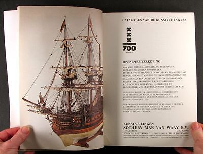 Antique Ship Models and Nautical Antiques 1975 Amsterdam Auction