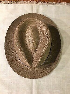 """Vintage Cavanagh Aposse Ad Esse Men's Hat Long Oval 7 1/8"""" With Side Bow"""