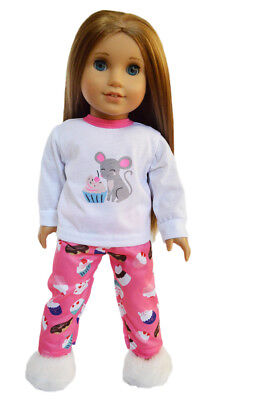 Cupcake Pajamas Outfit Fits 18 Inch American Girl Doll Clothes