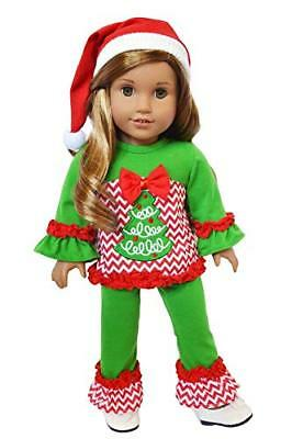 Christmas Lounge Doll Outfit Fits 18 Inch American Girl Doll Clothes