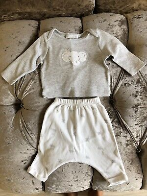 The Little White Company Baby Elephant Pyjamas 0-3 Months