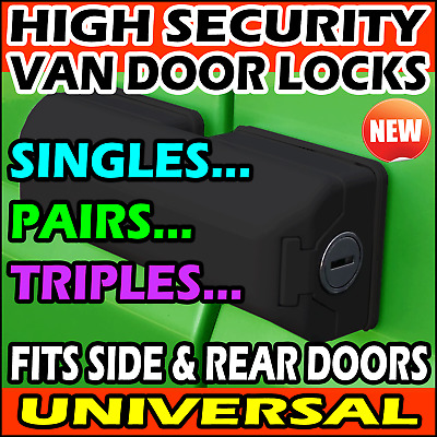 Ford Transit Custom Van Security Dead Locks Rear & Sliding Side Doors 2013-2020