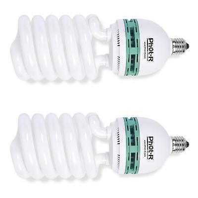Phot-R 2x 1000W 200W 220V 5500K E27 Socket CFL Spiral Continuous Daylight Energy