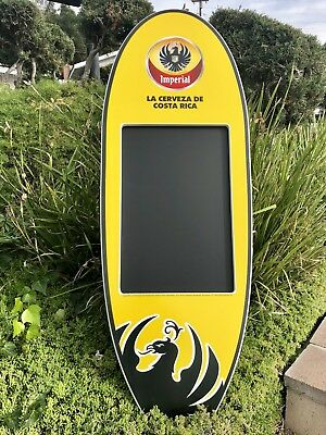 """Imperial Beer Cerveza Costa Rica Surfboard ChalkBoard Bar Man Cave Mirror  """"New"""""""