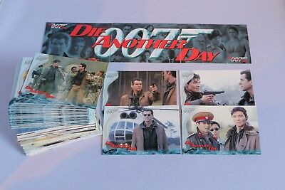 James Bond DIE ANOTHER DAY FULL SET BASE OF TRADING CARDS 2002