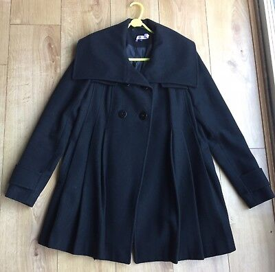 ASOS Black maternity swing coat Size 10