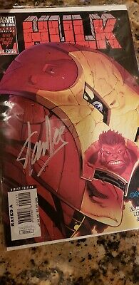 Stan Lee Signed Hulk Comic Book Iron Man Cover Marvel JSA Authenticated