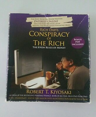 rich dads conspiracy of the rich the 8 new rules of money audio 8 CDs very good