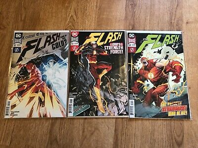 Flash #52 #53 #54 - Grips of Strength Complete - NM - 1st - B&B