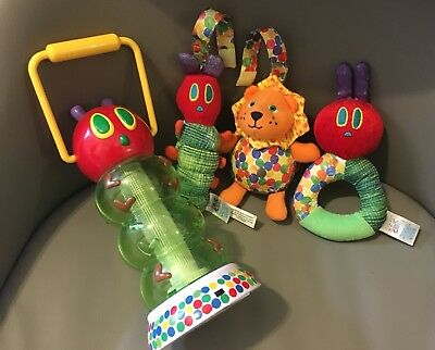 """Eric Carle, The Very Hungry Caterpillar 10"""" Lantern-Rattle-Crib/Stroller Tags"""