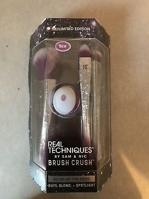 New Real Techniques Ruler Of Skies Limited Edition Brush Crush RRP£35 Ideal Gift