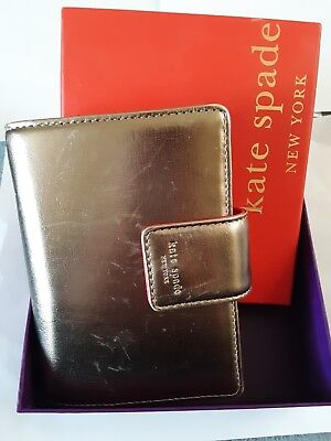 Kate Spade Pocket Agenda/Planner **Rare** Gold and Pink Leather.