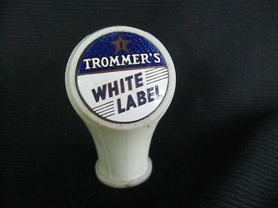 Trommers White Label Beer Tap Knob With Art Deco Design
