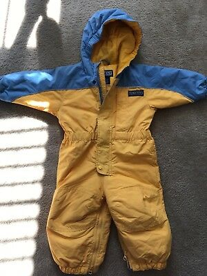 Lands End 18-24 months yellow and blue snowsuit