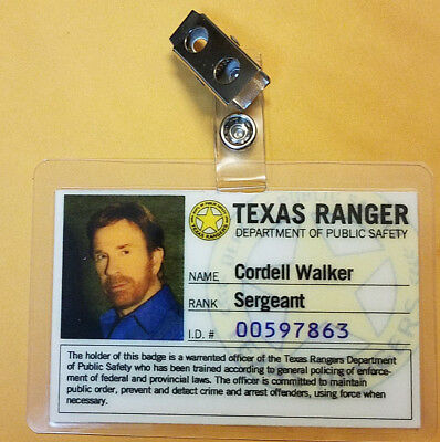 Walker Texas Ranger TV Series ID Badge - Cordell Walker Cosplay prop costume
