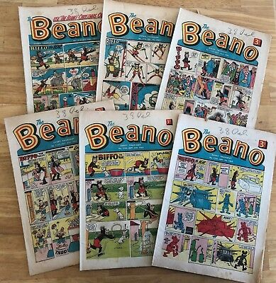 THE BEANO COMIC Sept Nov & December 1963 x 6 Issues inc Christmas card issue VG+