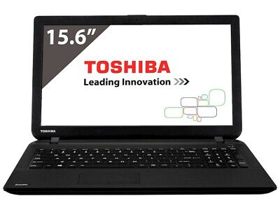 "Toshiba i3 Laptop Computer 4GB 500GB Webcam HDMI 15.6"" Screen Windows 10 or 7"