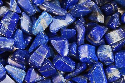 "Lapis Lazuli 3/4"" 2 Pieces Tumbler Polished Metaphysical Chakra Healing Crystal"