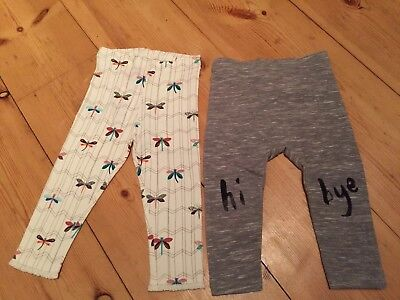 Next Brand New Girls 2x Leggings 12-18 Months