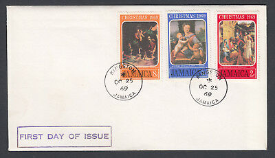 1969 Jamaica First Day of Issue FDC First Day Cover Christmas Kingston postmark