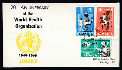1969 Jamaica First Day of Issue FDC First Day Cover 20th Anniv WHO World Health